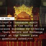 """Lloyd's """"Guru Return and Exchange Policy"""""""